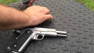kimber 1911 stainless target ii 9mm first shots and ammo test