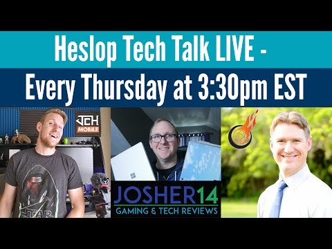 Heslop Tech Talk LIVE! 7/7/17 RED Hydrogen Phone, Gaming Benchmarks, New Overwatch -DOOMFIST & More