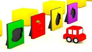 Lehrreicher Zeichentrickfilm - Die 4 kleinen Autos - Das bunte Puzzle-Spiel