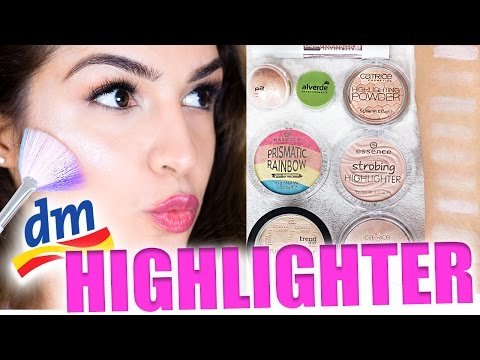 🦄 XXL DROGERIE HIGHLIGHTER TEST! 8 DM HIGHLIGHTING PRODUKTE REVIEW & SWATCHES | KINDOFROSY