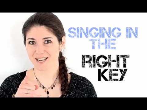 Freya's Singing Tips: Singing in the right key