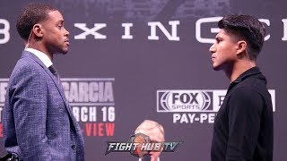 ERROL SPENCE & MIKEY GARCIA FACE TO FACE IN LOS ANGELES 30 DAYS AWAY FROM PPV CLASH