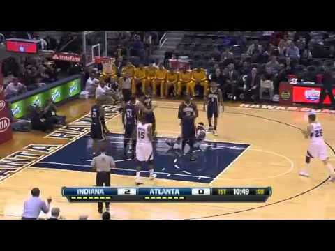 Smooth Spin Moves   Indiana Pacers Vs Atlanta Hawks   11   07   2012   NBA Season 2012 13