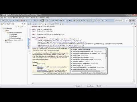 Secure Sockets - Java Sockets Tutorial 06