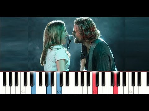 Lady Gaga & Bradley Cooper - Shallow (A Star is Born) (Piano Tutorial)
