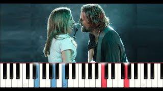 Lady Gaga & Bradley Cooper - Shallow (A Star is Born) (Piano Tutorial)