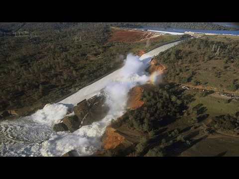 Lake Oroville Dam Spillway Failure Full Coverage !!!!!
