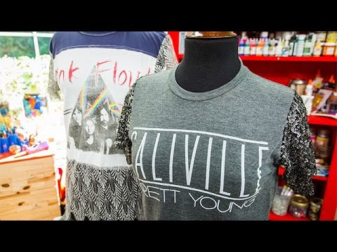 ee3ea4161 How To - Orly Shani s DIY Repurposed T-Shirts- Home   Family - YouTube