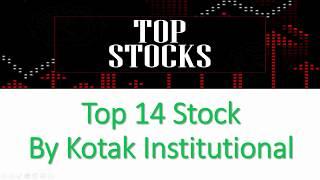 Top 10 Stock By Kotak Institutional -HUL,Infosys,Lupin,PVR,Bajaj Auto,Apollo Hospital,United Spirits