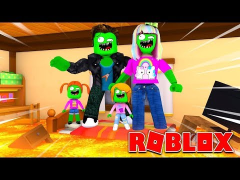Zombie Roblox Family   The Floor Is Lava