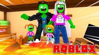Famiglia Roblox zombi Il pavimento è lava