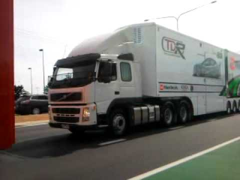 V8 Supercar arrival in Townsville 2011