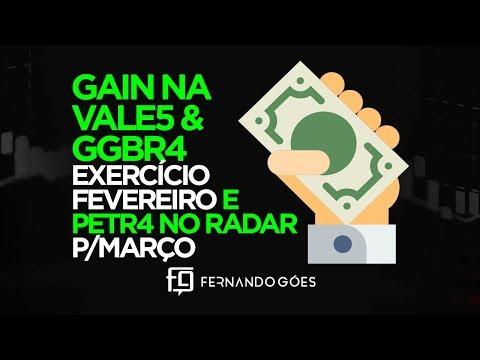 🔴GAIN na GGBR4 & VALE3 exercício de Fevereiro ! PETR4 no radar p/Março