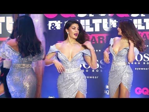 Jacqueline Fernandez Most Sh0cking 0pen Dress at GQ Awards 2019 | Full Red Carpet Video