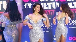 Jacqueline Fernandez Most Sh0cking 0pen Dress at GQ Awards 2019 | Full Red Carpet Video