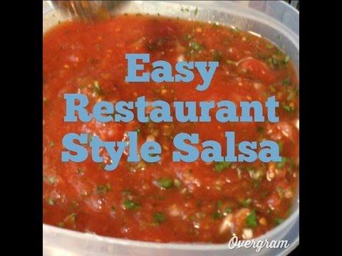 Easy Restaurant Style Salsa