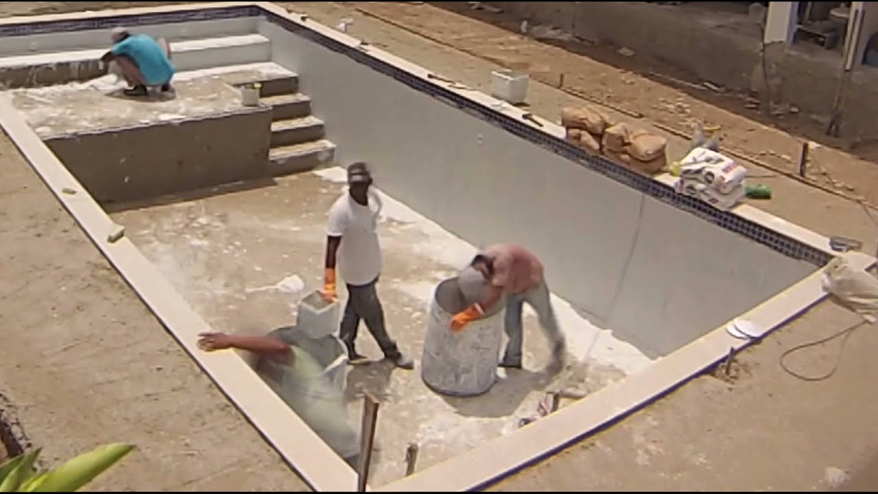 Constru o de piscina build your own swimming pool time lapse youtube for Cost of building a mini swimming pool in nigeria