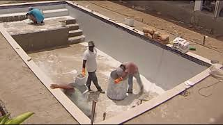 Construção De Piscina- Build Your Own Swimming Pool- Time Lapse