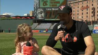 Darren O'Day answers questions from his daughter on Father's Day