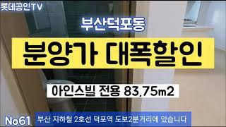 분양가 대폭할인 부산덕포동 아인스빌 전용60.5m2 선…