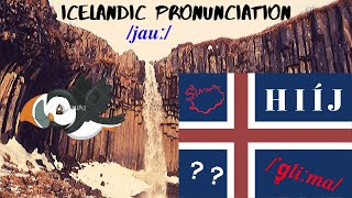 Icelandic Pronunciation, H I Í J