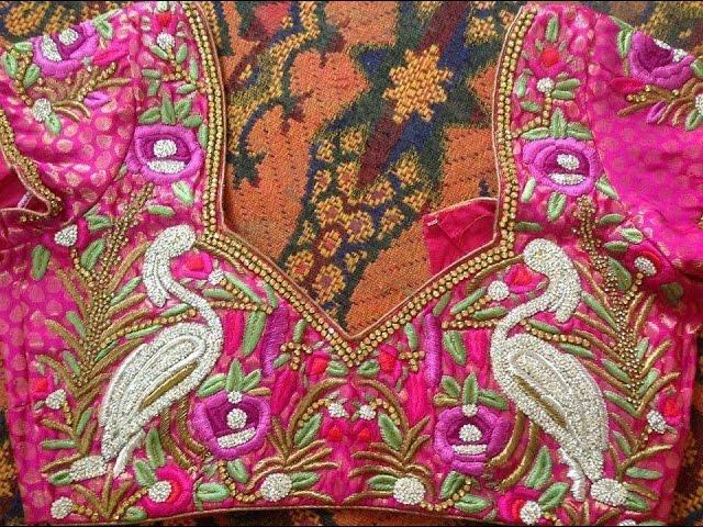 latest peacock design work blouses