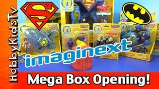Imaginext Superman Batman MEGA Box Opening Play-Doh Surprise Egg Lex Luthor Wonder Woman HobbyKidsTV