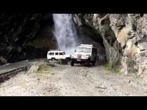 Waterfall Road... On the way to Chamé, the capital of Manang District in Nepal 17th September 2015