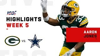 It's The Aaron Jones Show w/ 4 TDs & 182 Total Yds!! | 2019 NFL Highlights