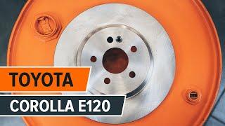 Jak wymienić tylne tarcze hamulcowe, tylne klocki hamulcowe w TOYOTA COROLLA E120 TUTORIAL | AUTODOC