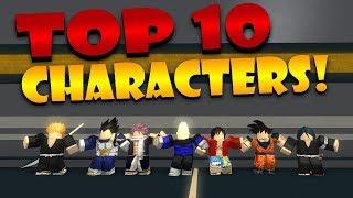 TOP 10 CHARACTERS IN ANIME CROSS 2!! | Roblox: Anime Cross 2