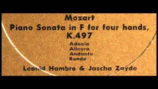 Mozart / Leonid Hambro / Jascha Zayde, 1962: Piano Sonata in F For Four Hands, K. 497 (1)