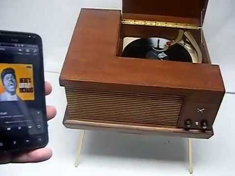 VINTAGE 50s 60s Mid Century Voice of Music 560 Record Player Console Bluetooth Wireless