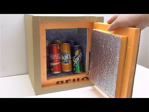 how to make a mini fridge out of a cooler