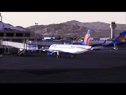 FSX [HD] - Delta A320 Approach to Palm Springs