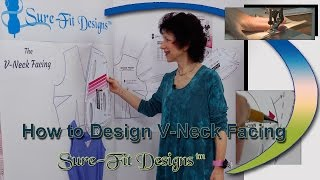 How to Draw a V-Neck Facing for a Pull-over Blouse