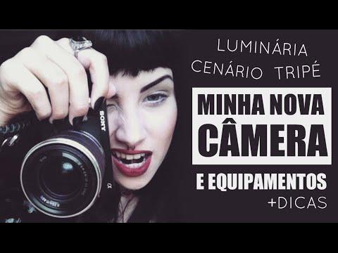 Meus equipamentos para gravar: Resenha Sony Nex F3 , Tripé, Iluminação   Mayara Pereira