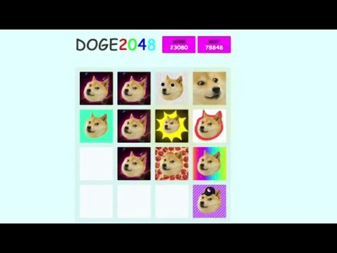 Doge 2048 gameplay 1