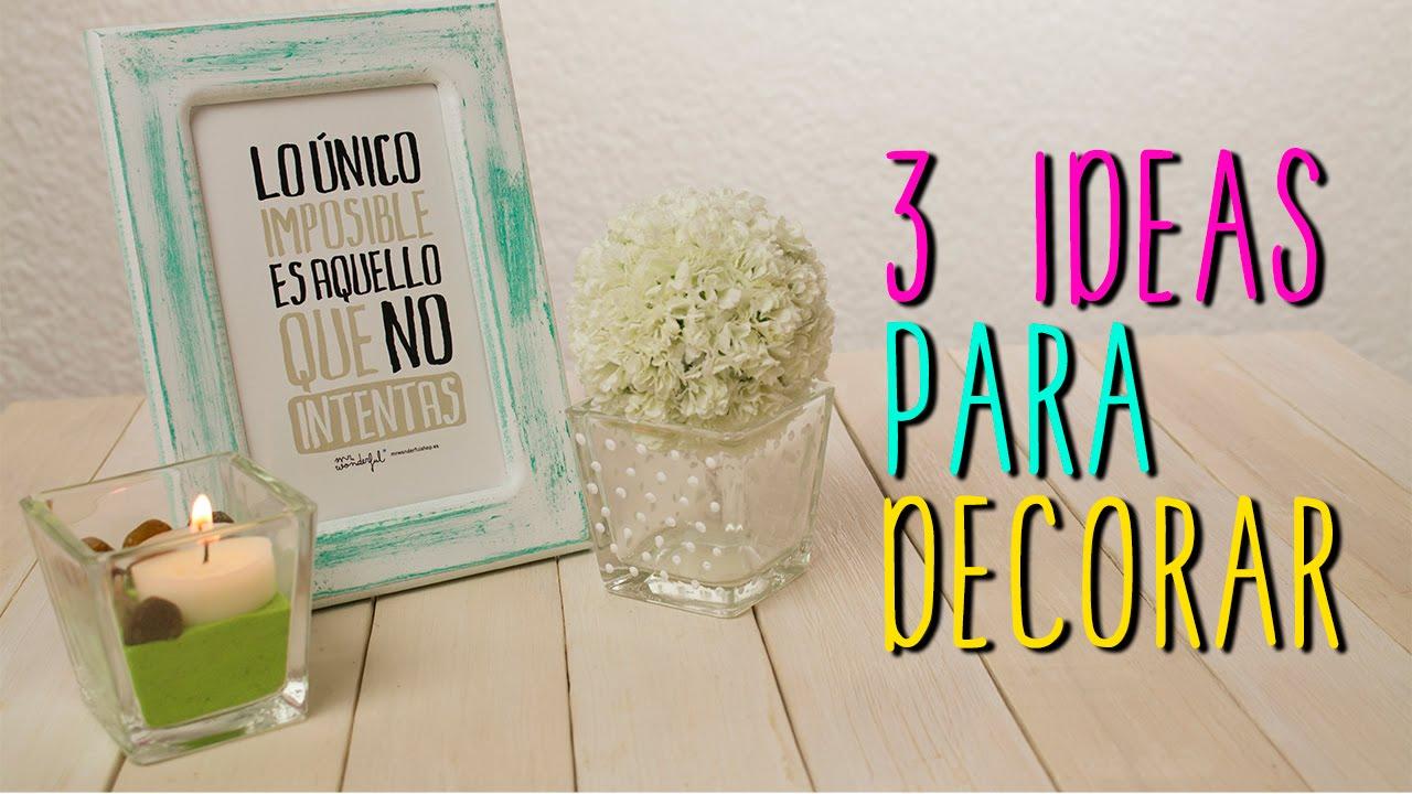3 Ideas para decorar tu cuarto - DIY Estilo Vintage ... on Room Decor Manualidades Para Decorar Tu Cuarto id=95548