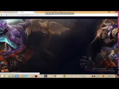 How to change league of legends account e-mail address?