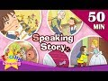 Speaking Story | 50 minutes Kids cartoon Dialogues | Easy conversation | Learn English for Kids