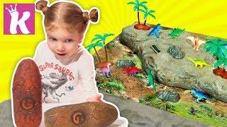 ДИНОЗАВРЫ ДЛЯ ДЕТЕЙ Обзор Игрушек Видео для детей Dinosaur Science for kids Toys Review