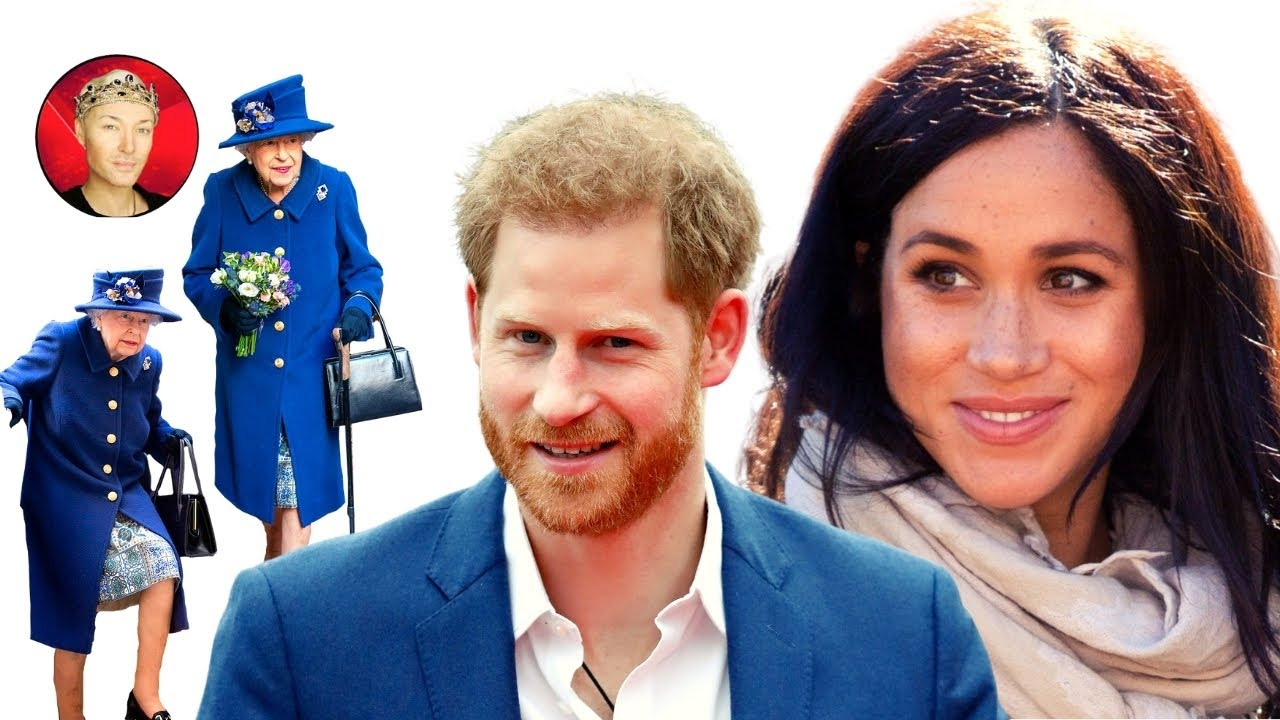Download Queen walks with a Stick as Meghan & Harry are Put In Their Place
