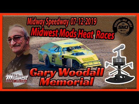 S03 E334 Gary Woodall Memorial - Midwest Modifieds Heat Races - Lebanon Midway Speedway 07-12-2019