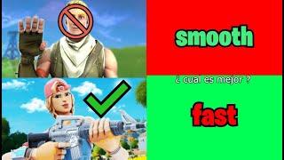 Sensibilidad Smooth vs Sensibilidad Fast CUAL ES MEJOR en FORTNITE en (1 Minuto)