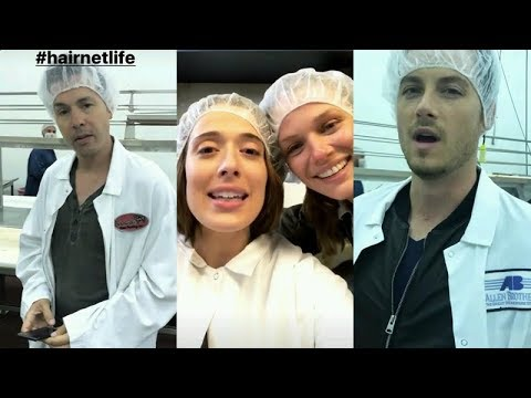 Marina Squerciati  Instagram Story Videos  August 2 2017 w Jesse Lee Soffer and Tracy Spiridakos
