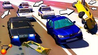 МЕНТАМ не понравились наши НЕЛЕГАЛЬНЫЕ гонки с ШАШКАМИ по АВТОБАНУ! BeamNG Drive