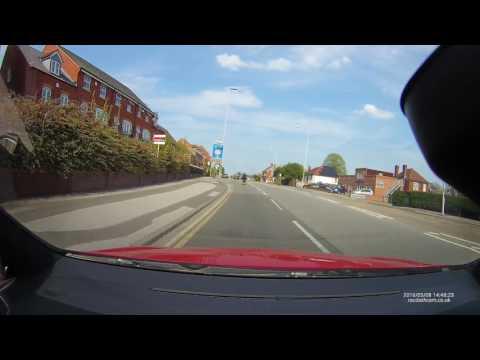 Dangerous Rider - Sutton In Ashfield/Mansfield, Nottinghamshire - 08/05/2016 - RAC05 Dash Cam
