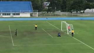 Funny penalty kick Moment in Thailand