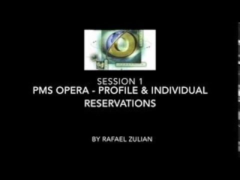 PMS Opera - How to create a new profile and reservation